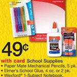 Walgreens School Supplies $.49 specials for Aug 10-16, 2014.