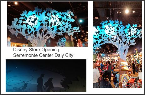disney store opening collage