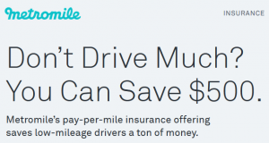 MetroMile Pay Per Mile Insurance