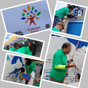 Comcast Cares Day 2017 Sutro Elementary