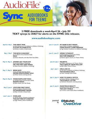 Sync free audiobooks for teens.
