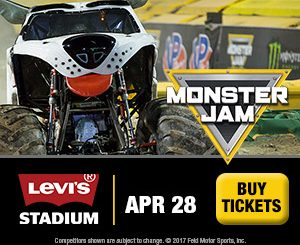 Monster Jam comes to Levi's Stadium in Santa Clara April 28, 2018
